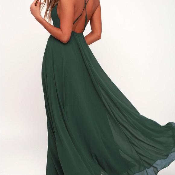 Lulu\'s Dresses   Lulus Emerald Evening Gown   Poshmark